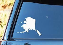 Amazon Com Ak Wall Art Alaska State Shape Native Local Vinyl Decal Car Truck Laptop Select Size Automotive
