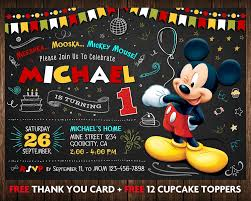 Invitaciones De Mickey Mouse 9 Decoracion De Fiestas