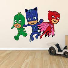 Design With Vinyl Pj Masks Catboy Owlette Gekko Cartoon Wall Decal Wayfair