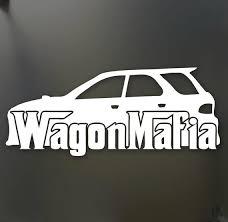 Wagon Mafia Lowered Sticker Subaru Wrx Sti Legacy Low Stance Etsy