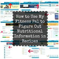 how to use my fitness pal to figure out