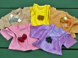 dye a shirt with veggies and fruits
