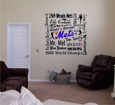 New York Mets Subway Art Vinyl Wall Decal By Stickemupvinyls 19 95 Vinyl Wall Decals Vinyl Wall Simple Signs