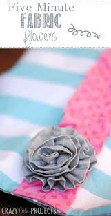 five minute fabric flowers tutorial