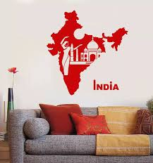 Vinyl Wall Decal India Map Wall Sticker Country Indian Girl Dancer Taj Mahal Sticker Family Living Room Fashion Decoration Dt32 Wall Stickers Aliexpress