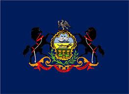 Printed Vinyl Decal Sticker Pa Usa 6 0 X3 8 Pennsylvania State Flag Map Ushirika Coop