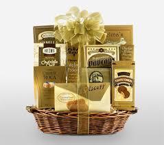 golden basket a gift basket full of
