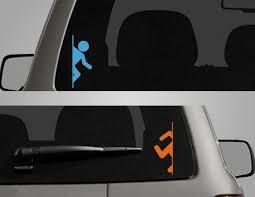 Portal Teleporter Set By Decallab Gaming Car Decals Vinyl Bumper Stickers Vinyl Paper