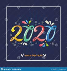 stylish happy new year wishes quotes messages stock vector