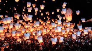 sky lanterns wallpaper photography