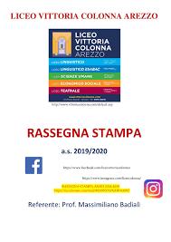 Calaméo - LICEO VITTORIA COLONNA AREZZO Rassegna Stampa 2019 2020