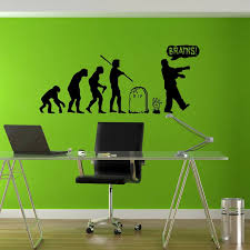 2018 Hot Sale Human Evolution Zombie Wall Decal Nordic Style Vinyl Stickers Nursery Kids Room Wallpaper Decor Sticker L90 Wall Stickers Aliexpress