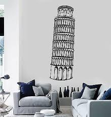 Vinyl Wall Decal Leaning Tower Of Pisa Italy Italian Art Stickers 365ig Ebay