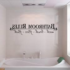 Bathroom Rules Home Decor Wall Decals Stickers Quote