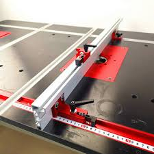 Table Miter Track Saw Woodworking Diy Tools T Track Sliding Fence Connector Ebay