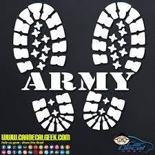 Army Combat Boots Car Window Vinyl Decal Sticker Military Decals