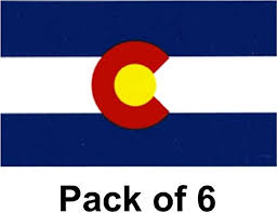 Amazon Com Made In The Usa Pack Of 6 Colorado Flag Vinyl Decal Stickers 3 5 X 5 Colorado Waterproof Industrial Strength Vinyl Sticker Decals For Cars Trucks Rv Suv S Boats Home