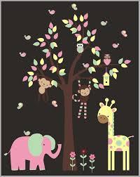 Cute Nursery Decal Fun Nursery Stickers Removable Animal Decals Nurserydecals4you