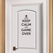 Yoja 12 2 25cm Keep Calm And Game Over Gamer Kids Room Door Decal Wall Sticker D1 0129 Wall Stickers Aliexpress