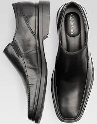 calvin klein black plain toe slip