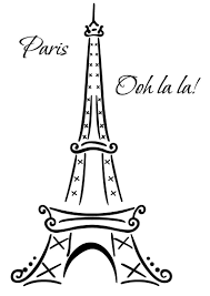 Eiffel Tower Paris Ooh La La Wall Deco Vinyl Decal Wall Art Decoration Eiffel Tower Painting Eiffel Tower Drawing Decal Wall Art