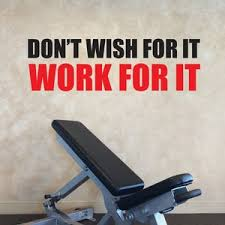Don T Wish For It Work For It Wall Quote Decal Sticker Etsy