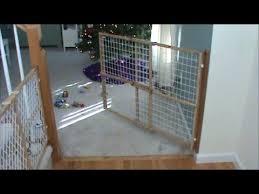 Swinging Child Fence Or Dog Gate Youtube
