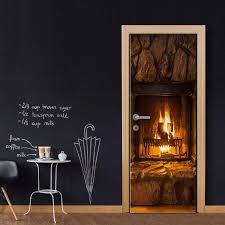 3d Wall Art Door Mural Fireplace Wallpaper Wall Sticker Decal Wall Decal Photo Self Adhesive Home Decor Accessories Wall Stickers Aliexpress