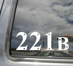 221b Sherlock Holmes Baker Street Car Window Vinyl Die Cut Decal Sticker 10003 Ebay
