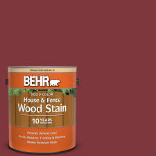 Behr 1 Gal Sc 112 Barn Red Solid Color House And Fence Exterior Wood Stain 03001 The Home Depot
