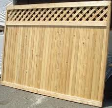 New Canaan Good Neighbor Cedar Fence Lattice Top 6ft H X 8ft Wide Attached Diagonal Lattice Topper Pre Built Same Finish On Both Sides Fence With Lattice Top Lattice Fence Pergola