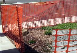 Snow Fencing Plastic Mesh Available In Orange And Dark Green Colors
