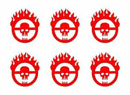 6 Mad Max Fury Road Skull Logo Vinyl Decals Car Window Laptop Phone 2 Stickers Ebay