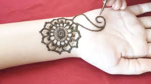 mehndi design arabic easy for front hand