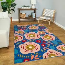 Zoomie Kids Ophir Floral Blue Area Rug Wayfair