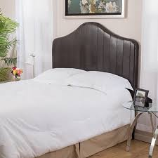 brown leather headboard