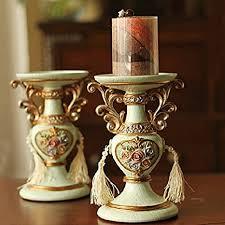 JW Velas continental/pintado/resina/socorro Rose//Adornos retro/hacer las  decoraciones antiguas/oficios: Amazon.es: Hogar