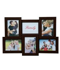 truce brown 6 in 1 photo frame