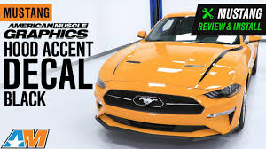 2018 2019 Mustang Americanmuscle Graphics Hood Accent Decal Review Install Youtube