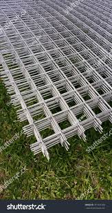 Welded Wire Mesh Metal Wire Screen Buildings Landmarks Stock Image 371431399
