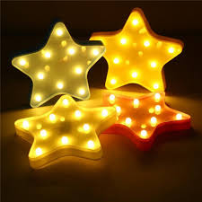 Home Garden Cute Star Led Night Light Wall Battery