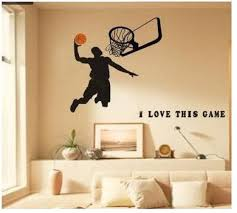 Amazon Com Basketball Wall Decals Sports Boys Wall Decals For Room Decor Baby