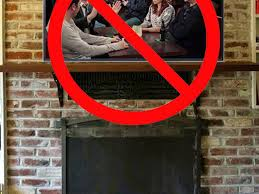 don t mount a tv above a fireplace cnet