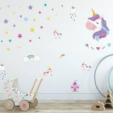 Zoomie Kids Magical Unicorns World Wall Decal Wayfair