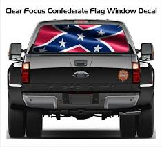 Clear Focus Confederate Flag Decal