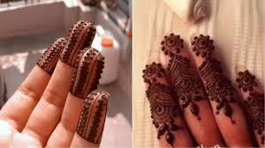 finger mehndi design photos