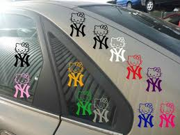 Buy New York Yankees Decal Yankees Decal Ny Yankees Decal Cute Hello Kitty Decal Motorcycle In Johnston Rhode Island Us For Us 6 00