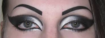 black extended winged cat eye makeup