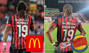 Costa Rican player Jonathan McDonald pulls prank with his shirt... by  calling himself Burger King! | Daily Mail Online