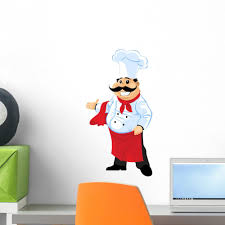 Chef Cook Wall Decal Wallmonkeys Com